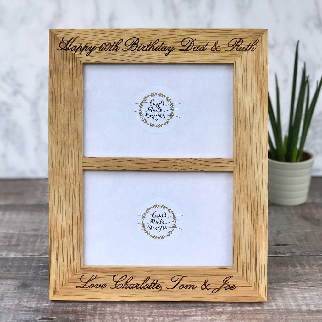 Moderno Personalized Double Picture Frame Ilustración - Ideas ...