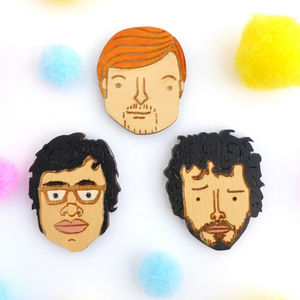 Flight Of The Conchords Pin Set - pins & brooches