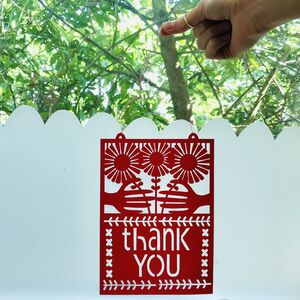 Thank You Paper Cut Gift