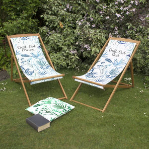 Mum And Dad's Matching Deckchairs For Couples - 60th anniversary: diamond