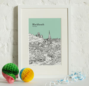 Personalised Blackheath Print - maps & locations