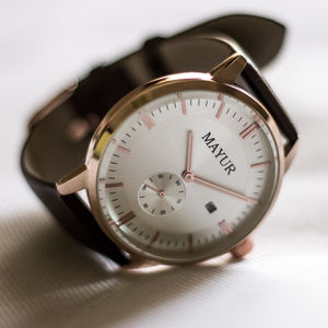 Regal Rose Gold Watch - watches