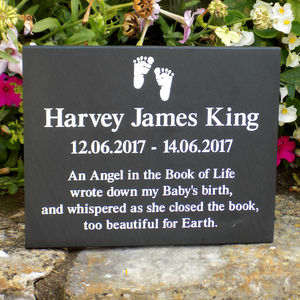 Personalised Slate Infant Loss Plaque
