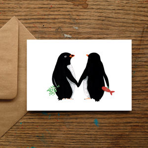 Christmas Penguin Love Christmas Cards - christmas sale
