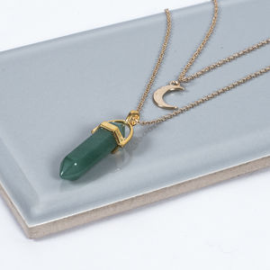 Aventurine Gemstone Necklace - necklaces & pendants