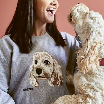 Personalised Pet Embroidered Sweatshirt