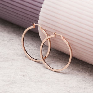 Gold, Rose Gold And Silver Hoop Earrings