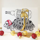 Sloe Gin Christmas Card