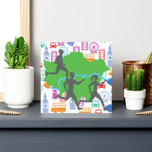 London Marathon Runners Greeting Card