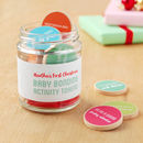 Personalised First Christmas Baby Bonding Tokens Jar