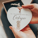 'Love And A Cockapoo' Dog Lover Gift