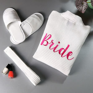 Bridal Robe And Slipper Set