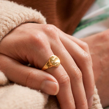 Classic Chunky Textured Signet Ring