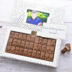 Personalised Chocolate Gift In A Large Box - summer sale