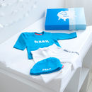 Personalised New Baby Boy Gift Box Set