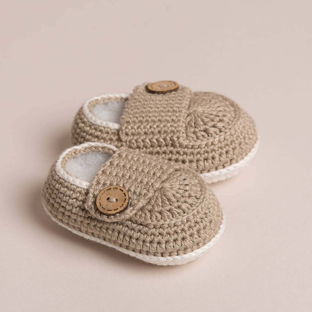 Hand Crochet Bamboo Baby Shoes By Attic Notonthehighstreet Com