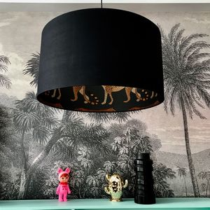 Leopard Walk Cole And Son Lampshade In Black - lampshades