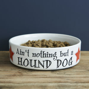 Hound Dog Pet Bowl