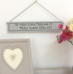 'Dreams' Hand Painted Wooden Sign