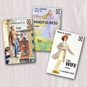 A Set Of Three Personalised Adult Ladybird Books