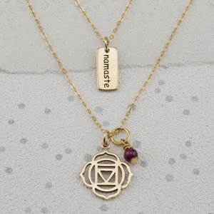 Root Chakra Necklace In Gold Or Silver