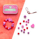 Personalised Valentine Heart Bracelet Gift Kit
