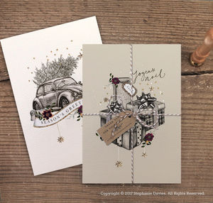 Pack Of Luxury Traditional Christmas Cards