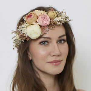 Peony Retro Crown - bridal hairpieces