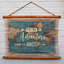 Personalised World Map Wall Hanging