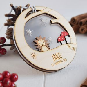 Personalised Baby's First Christmas Hedgehog Bauble - best of baubles