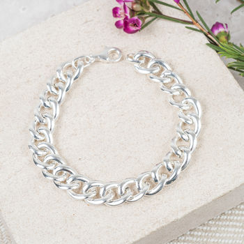 Solid Sterling Silver Or Gold Plated Link Bracelet