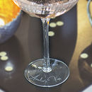 Personalised Scalloped Glass
