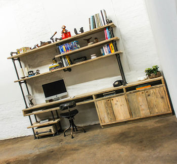 Pourreza Reclaimed Scaffolding And Steel Pipe Desk
