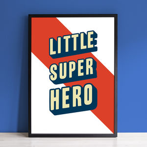 Little Superhero Typography Print