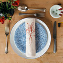 printed red radish vegetable napkin