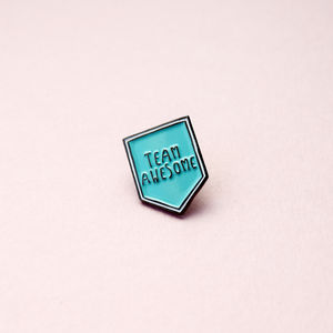 20mm Couples/Bff Team Awesome Enamel Pin Brooch - secret santa gifts