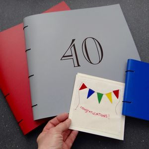 Large Personalised Leather Birthday Album