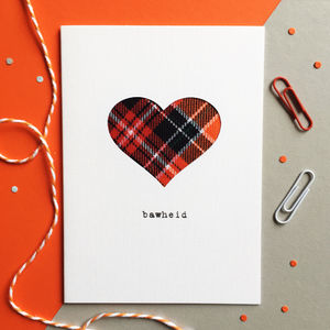 'Bawheid' Scottish Valentine's Card