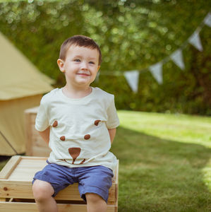 Jama The Bear Childs T Shirt - for little adventurers