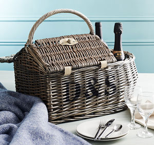 Personalised Boat Hamper Picnic Basket - 50th birthday gifts