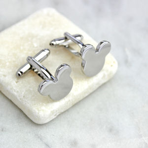Mouse Ears Cufflinks - cufflinks