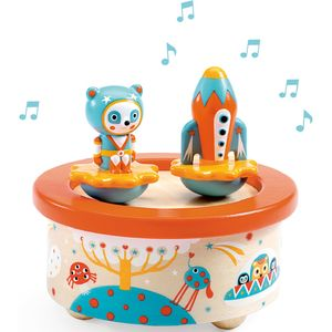 Space Music Wooden Dancing Music Box