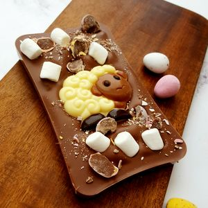The Mini Egg Rocky Road Easter Chocolate Slab