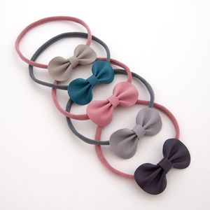 Little Love Baby Leather Bow Headband / Darks