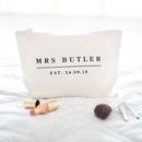 Personalised Wedding Date Make Up Bag