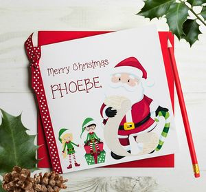 Personalised Santa Christmas Card