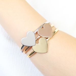 Set Of Mixed Metal Heart Bangles - summer sale