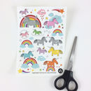 Children's Unicorn Temporary Tattoos