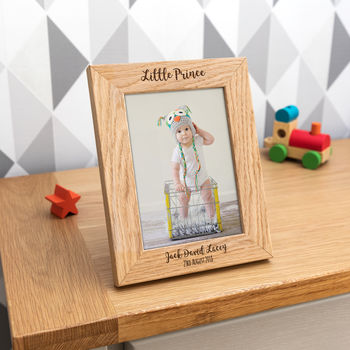 Personalised Little Prince Or Princess Photo Frame