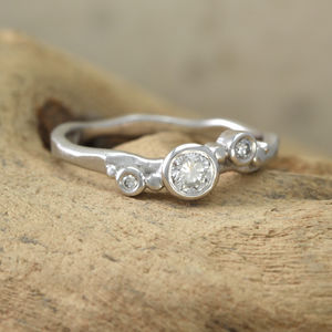'Flint' 18ct White Gold Engagement Ring - rings